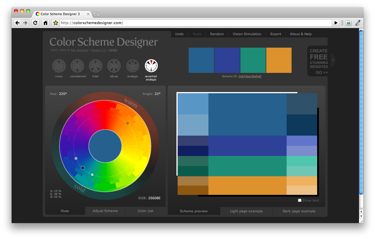 Color Scheme Designer color scheme designer
