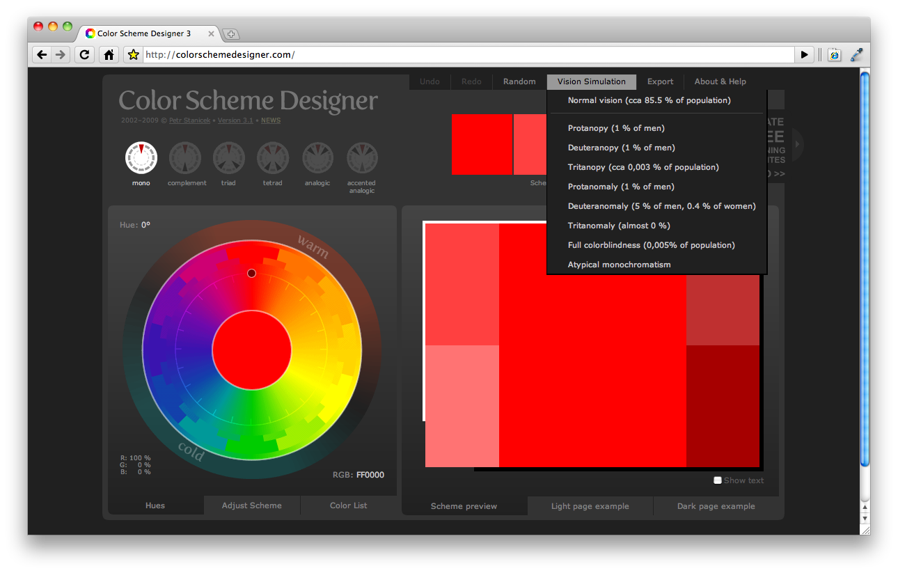 Color Scheme Designer 2
